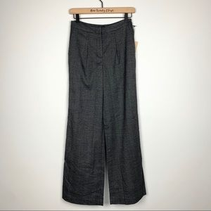 Halogen | Plaid High Waist Wide Leg Pants